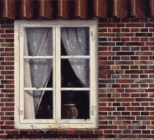 Das Fenster meines Nachbarn, 1930, Öl auf Holz, 72 x 80 cm, Landesmuseum für Kunst und Kulturgeschichte Oldenburg